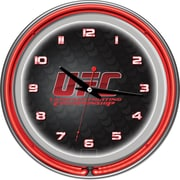 UFC Glass Chrome Double Ring Neon Clock, V3