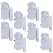 Stalwart 72-852075 8 Piece Mini Window Security System Alarm Set, White
