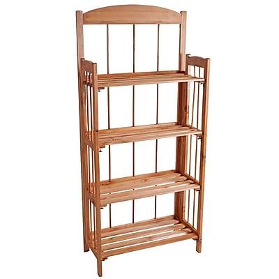 Lavish Home Wood Bookcase 4 Shelf