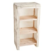 "Lavish Home 34.25"" x 17.75"" Wood Shelf with Removable Cover"