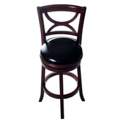Lavish Home Wood Swivel Bar Stool, Dark Brown