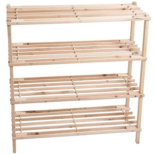 Lavish Home 26 25 X Pine Wood Shoe Rack