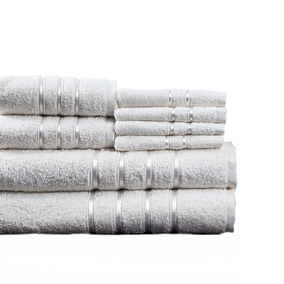 Lavish Home Cotton Plush Bath Towel Set, White