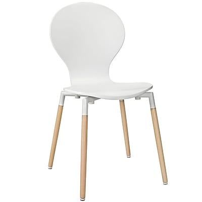 Modway Path EEI-1053 Plastic/Wood Dining Chairs, White