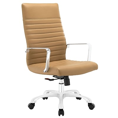 Modway EEI-1061-TAN Finesse Highback Office Chair, Tan