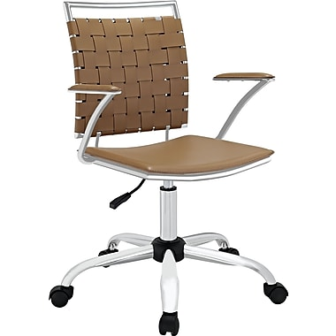Modway Fuse Metal Executive Office Chair, Fixed Arms, Tan (848387013066)