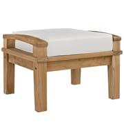 Modway Marina EEI-1152-NAT-WHI-SET Fabric/Wood Ottoman, Natural White