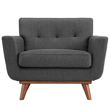 Modway Engage EEI-1178-DOR Polyester/Wood Armchair, Gray