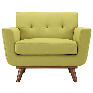 Modway Engage EEI-1178-WHE Polyester/Wood Armchair, Wheatgrass