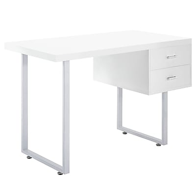 Modway EEI-1184-WHI Modern Metal/MDF Workstations Desk, White