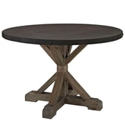 "Modway EEI-1207-BRN-SET 47"" Round Dining Table, Brown"