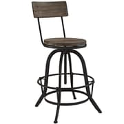 "Modway EEI-1212-BRN 36 - 46""H Procure Bar Stool, Brown"