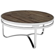 "Modway Provision EEI-1213-BRN 15.5"" Round Coffee Table, Brown"