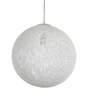 Modway EEI-1232-WHI Spool Pendant Light, White