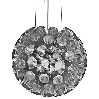 Modway EEI-1239-SLV Pierce Aluminum Pendant Light, Silver