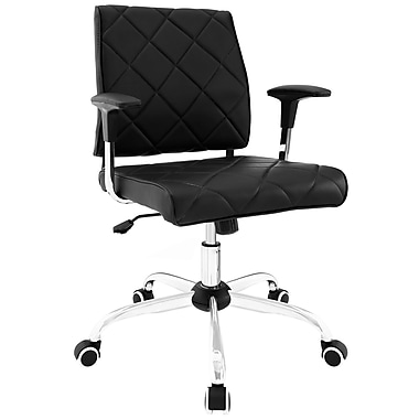 Modway Lattice Metal Managers Office Chair, Fixed Arms, Black (848387019082)