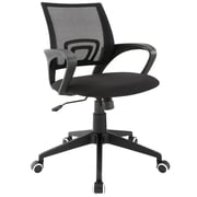 Modway Twilight Mesh Managers Office Chair, Fixed Arms, Black (848387019112)