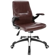 Modway Premier Faux Leather Computer and Desk Office Chair, Fixed Arms, Brown (848387019143)