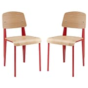 Modway Cabin EEI-1262 Set of 2 Plywood/Steel Dining Chairs