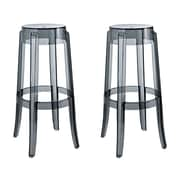 "Modway EEI-1264-SMK-Set of 2 29.45"" Casper Bar Stool, Smoke"