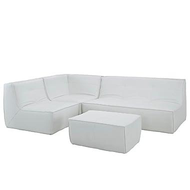 Modway Align EEI-1286-WHI 4 Piece Leather Sofa Set, White