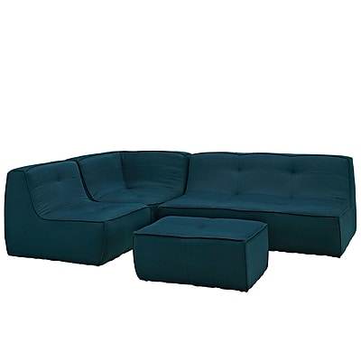 Modway Align EEI-1289-AZU 4 Piece Fabric Sofa Set, Azure
