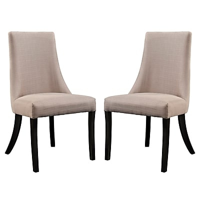 Modway Reverie EEI-1297 Set of 2 Wood Dining Chairs, Beige