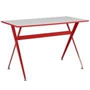 Modway EEI-1325-RED Contemporary Melamine/Steel Writing Desk, Red