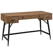 Modway EEI-1328-WAL-KIT Contemporary Wood/Melamine/Steel Writing Desk