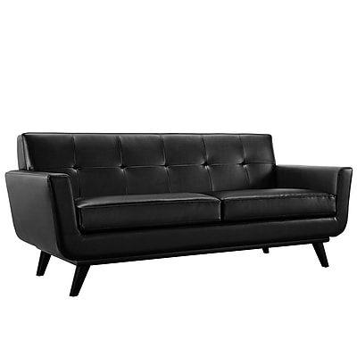 Modway Engage EEI-1337-BLK 1 Piece Leather Loveseat, Black