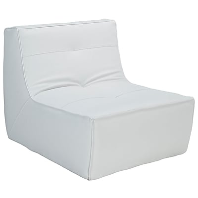 Modway Align EEI-1350-WHI Wood/Leather Armchair, White