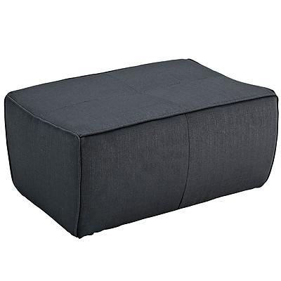 Modway Align EEI-1357-CHA Wood/Fabric Ottoman, Charcoal