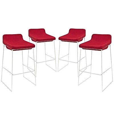 Modway EEI-1365-RED Set of 4 34.5
