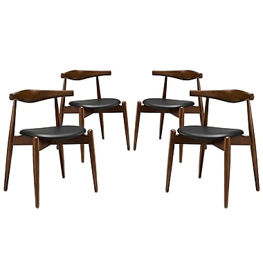 Modway Stalwart EEI-1378 Set of 4 Wood Dining Side Chairs