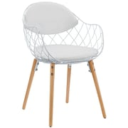 Modway Basket Metal EEI-1465-WHI Metal Dining Chair, White