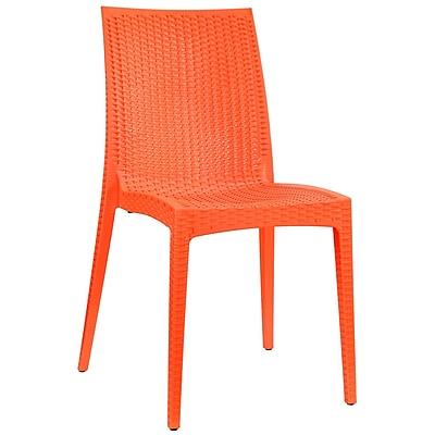 Modway Intrepid EEI-1466 Plastic Dining Chair, Orange