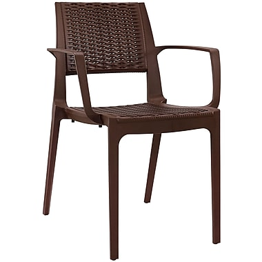 Modway Astute EEI-1467 Plastic Dining Chair, Coffee