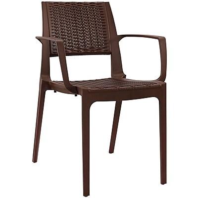 Modway Astute EEI-1467 Plastic Dining Chair, Coffee
