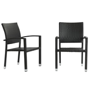 Modway Bella EEI-988-EXP Dining Chair Outdoor Patio Set of 2, Expresso