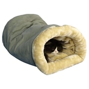 Armarkat Tube Cat Bed; Sage Green and Beige