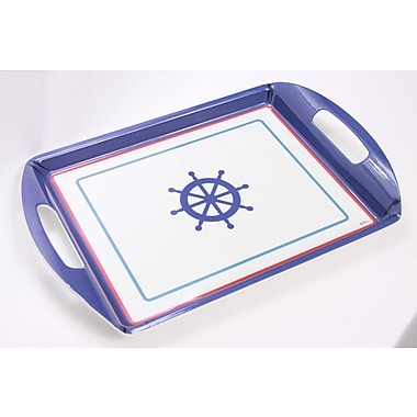 Shall Housewares Nautical Double Handle Rectangular Serving Tray
