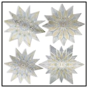 """Artscape 12""""H x 12""""W Star Holiday Nordic Window Accents (4-Piece)"""