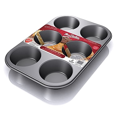 Mrs. Fields 6-Cup Muffin Pan, 2/Pack