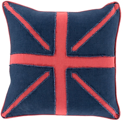 Surya LF002-1818D Linen Flag 100% Linen, 18