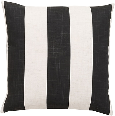 "Surya JS009-2222P Simple Stripe 70% Polyester / 30% Linen, 22"" x 22"" Poly Fiber"