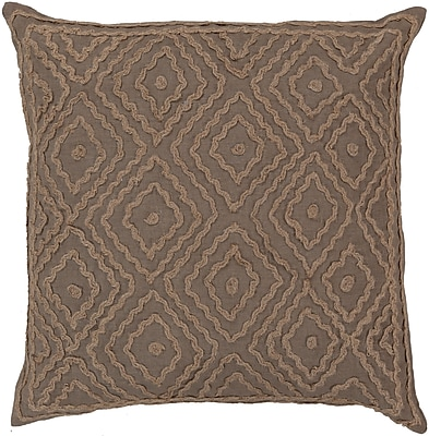 Surya LD026-1818D Atlas 100% Linen w/ Cotton Detail, 18