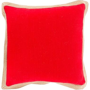 Surya JF002-1818D Jute Flange 90% Cotton, 10% Jute, 18