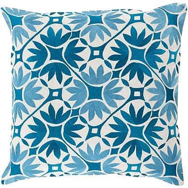 Surya KSF002-2020P Floral Geo 100% Cotton, 20