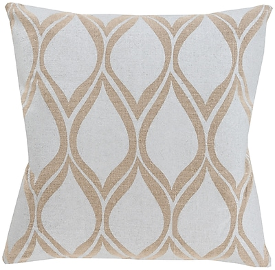 Surya MS001-2222D Metallic Stamped 100% Linen, 22