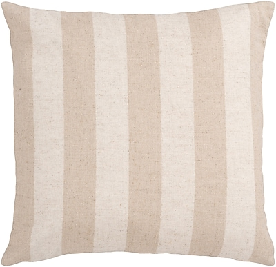 Surya JS015-1818D Simple Stripe 70% Linen / 30% Cotton, 18